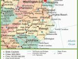 Map Of north Carolina and Surrounding States Map Of Virginia and north Carolina