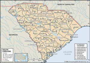 Map Of north Carolina and Surrounding States State and County Maps Of south Carolina