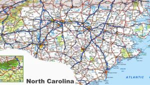 Map Of north Carolina Coastline north Carolina Road Map