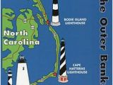 Map Of north Carolina Lighthouses Outer Banks Lighthouses State Map Cape Hatteras north Carolina 5