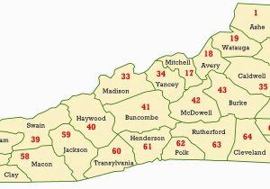 Map Of north Carolina Mountains Map Of Western north Carolina Counties Google Search Wnc