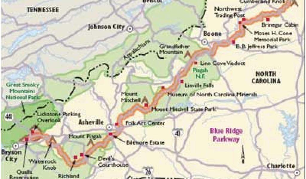 Map Of north Carolina Mountains north Carolina Scenic Drives ...