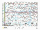 Map Of north Dakota south Dakota and Minnesota Missouri River Drainage Basin Landform origins In south Dakota Usa