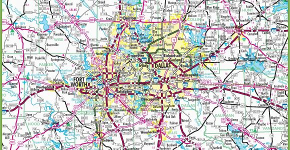 Map Of north Dallas Texas Dallas area Road Map