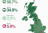 Map Of north England and Scotland How Much Of Your area is Built On Bbc News