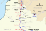 Map Of northern France Ww1 Map Of northern France and Belgium Showing the Progress Of Battles