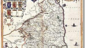 Map Of northumberland England 1645 northumberland Maps Engravings and Prints England