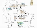 Map Of northwest France A Road Trip In Luxembourg Free Printable Map for A Great Itinerary
