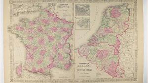 Map Of northwest France original Antique France Map Holland Map Belgium Netherlands Map