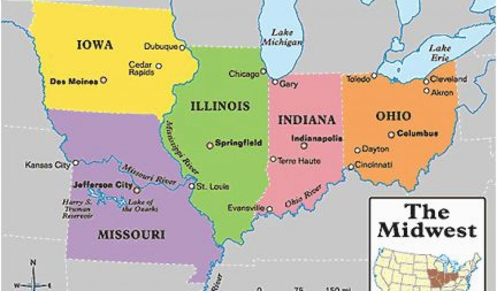 Cities Of America Map.Map Of Ohio And Indiana With Cities Central America Map With States