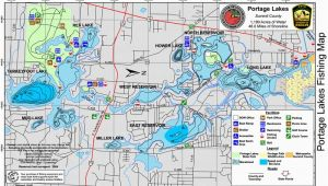 Map Of Ohio Lakes Portage Lakes
