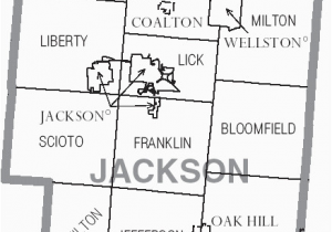 Map Of Ohio townships File Map Of Jackson County Ohio with Municipal and township Labels
