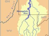 Map Of Ohio with Rivers Monongahela River Wikipedia