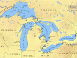 Map Of Ontario and Michigan Great Lakes Mayors and Anishinabek Nation Push for Stronger Water