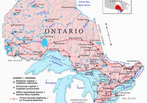 Map Of Ontario Canada Cities Guide to Canadian Provinces and Territories