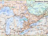 Map Of Ontario Canada Cities Map Of southern Ontario