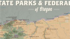 Map Of oregon State Parks oregon State Parks Federal Lands Map 24×36 Poster Best Maps Ever