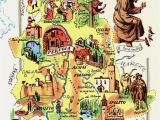 Map Of orvieto Umbria Italy Vintage Umbria Italy Map Picture Map Of Italy Artistic Pictorial Map