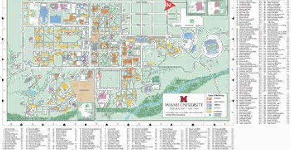 Map Of Oxford Ohio Oxford Campus Map Miami University Click to Pdf Download Trees