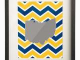 Map Of Oxford Ohio University Of toledo Ohio State Map 8×10 Chevron Print 15 00 Etsy