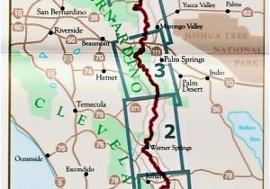 Map Of Pacific Crest Trail In Southern California Pacific Crest