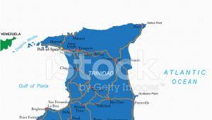 Map Of Port Of Spain Trinidad and tobago Trinidad tobago Karte Stock Vector Freeimages Com