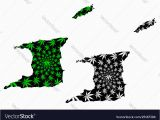 Map Of Port Of Spain Trinidad Trinidad and tobago Map is Designed Cannabis Vector Image