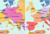 Map Of Post Ww1 Europe Map Of Europe before and after World War 1 What New