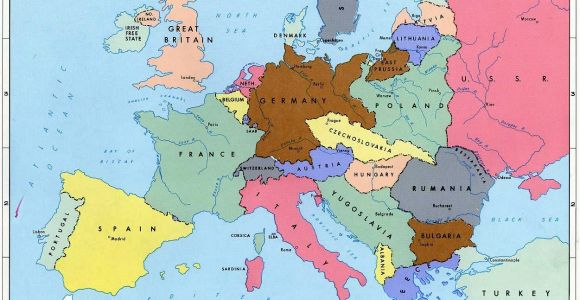 Map Of Pre Ww2 Europe Pre World War Ii Here are the Boundaries as A Result Of