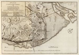 Map Of Quebec City Canada Old Map Of Quebec City and fortifications Canada 1759