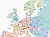 Map Of Rail Lines In Europe Train Map for Europe Rail Traveled In 1989 with My Ill