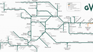 Map Of Railway Lines In England Great Western Train Rail Maps