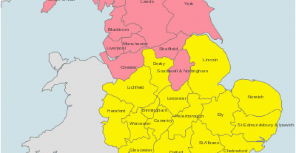 Map Of Regency England to Find the Right Bishop for the Wedding License Map Of Dioceses