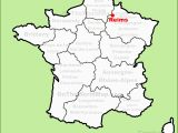 Map Of Reims France Reims France Map