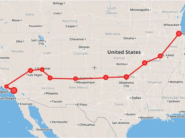 Map Of California Route 66.Map Of Route 66 From Chicago To California Map Route 66 Map Drove It