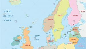 Map Of Scandinavia and northern Europe Map Of Uk and northern Europe Map Stock Photos Map Of Uk