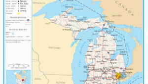 Map Of Se Michigan Michigan Wikipedia