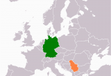 Map Of Serbia In Europe Germany Serbia Relations Wikipedia