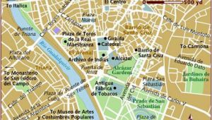 Map Of Seville Spain City Centre Map Of Seville