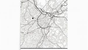 Map Of Sheffield England Sheffield Map Sheffield Art Sheffield Print Sheffield