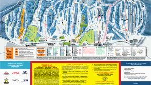 Map Of Ski Resorts In Canada Blue Mountain Trail Map Onthesnow