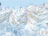 Map Of Ski Resorts In north Carolina Three Valleys Piste Map