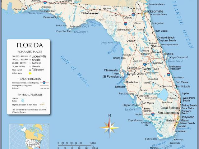 Map Of Cape Canavral Fla Coast on