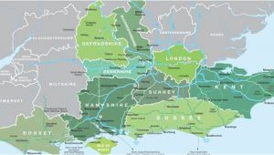 Map Of south East England with towns Map Of south East England Visit south East England