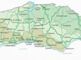 Map Of south England with towns Map Of Sussex Visit south East England