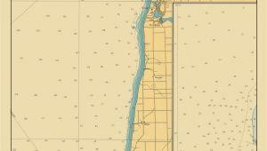 Map Of south Haven Michigan Lake Michigan Map Lake Macatawa to south Haven 1947 Love
