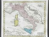 Map Of south Italy and Sicily Italy 1800 1899 Date Range Antique Europe atlas Maps for Sale Ebay