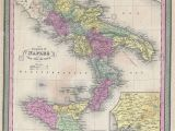 Map Of south Italy and Sicily Italy Map Stock Photos Italy Map Stock Images Alamy