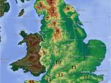 Map Of south West England Uk Mountains and Hills Of England Wikipedia