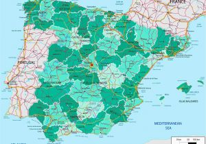 Map Of south West France and northern Spain Map Of northern Spain and southern France 83313